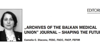 """""""Archives Of The Balkan Medical Union"""" Journal – Shaping The Future"""